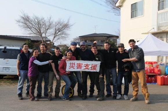 Tsunami relief team