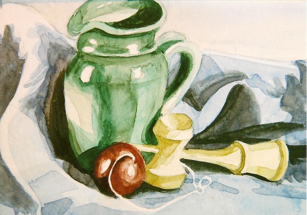 Kendama 4.5x7 watercolor