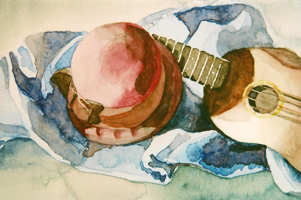 Ukelele 4.5x7 watercolor