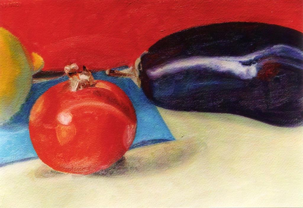 Vegetables Still 10.5x14.5oil on paper