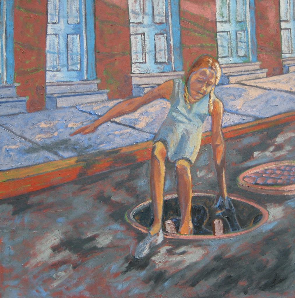 Adventures of Catherine 1 28x28 oil on canvas 2