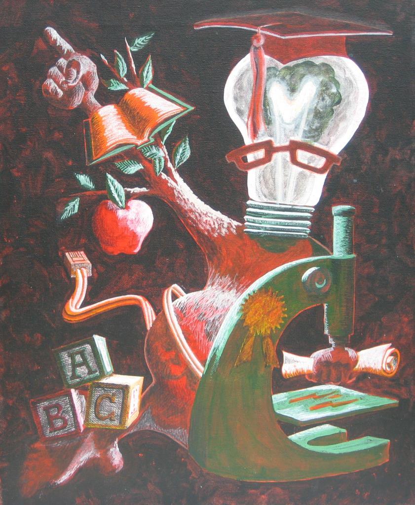 Education 16x20 acrylic on canvas