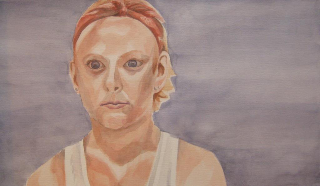 Jock Girl ~18x20 watercolor