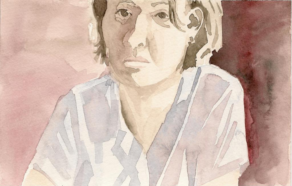 Karla 4.5x7 watercolor