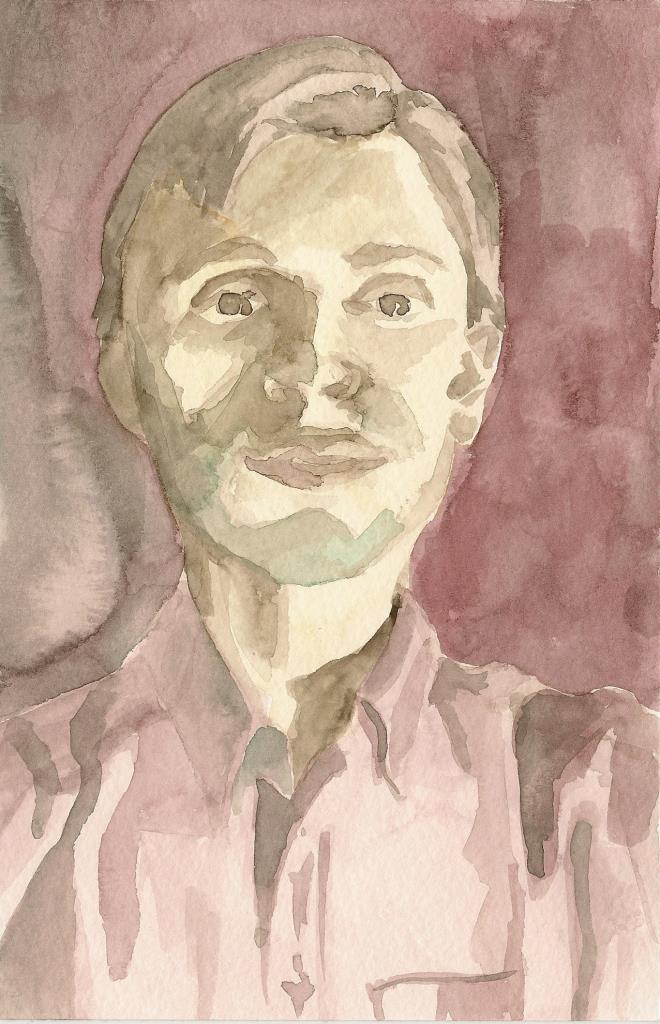 Michael 4.5x7 watercolor