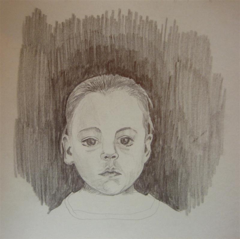 Molly ~12x12 graphite
