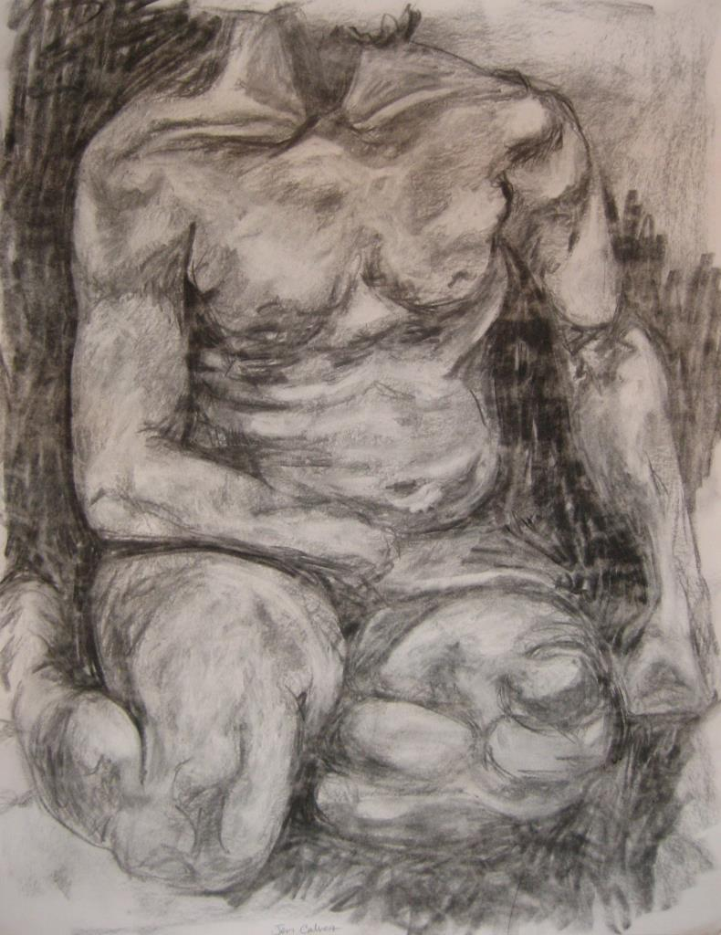Nude III ~18x20 charcoal